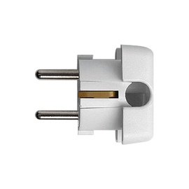 N&L 3 Pin Power Plug 17204 White
