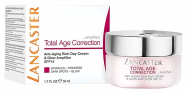 Sejas krēms Lancaster Total Age Correction Rich Day Cream Amplified SPF15, 50 ml