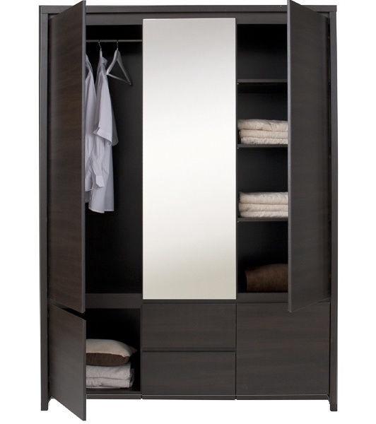 Guļamistabas mēbeļu komplekts Black Red White Kaspian Wenge