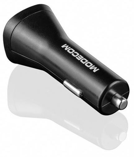 Modecom Royal USB Type-C Car Charger With USB Port Black