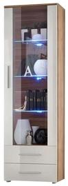 Шкаф-витрина ASM Neo I Plum/White, 60x40x190 см