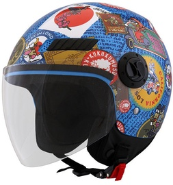 Shiro Helmet SH-62 Travelstamps Multicolor S