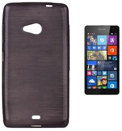 Forcell Jelly Brush Back Case For Microsoft 535 Lumia Black