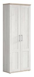 Skapis Black Red White Romance, ozola/alkšņa, 76x36.5x201 cm