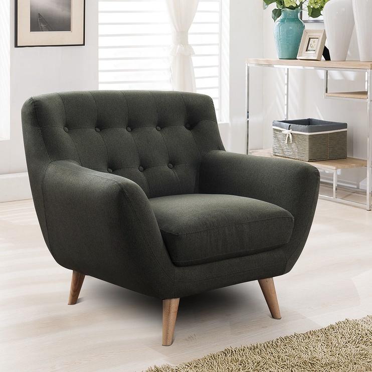 Atzveltnes krēsls Home4you Rihanna Gray, 93x84x87 cm