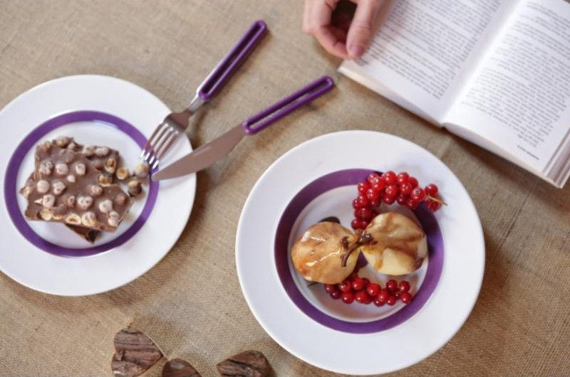 ViceVersa Offset Cutlery Set 24 Purple
