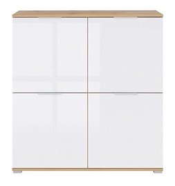 Black Red White Zele KOM4D Cupboard Wotan Oak/White Gloss