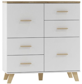 Kumode Cama Meble Lotta 110 2D4S Sonoma Oak/White