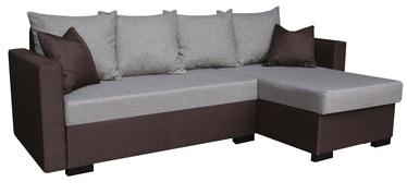 Stūra dīvāns Platan Karol 03 Brown/Grey, 230 x 140 x 80 cm