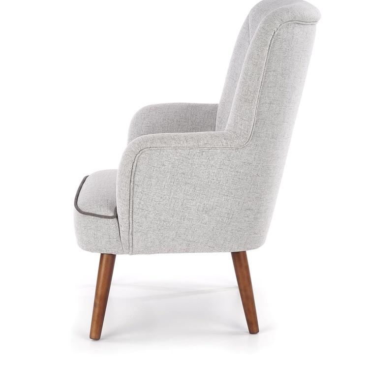 Atzveltnes krēsls Halmar Bishop Light Grey, 76x78x102 cm