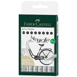 Фломастер Faber Castell Ecco Pigment Fineliner, односторонние, 8 шт.