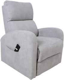 Atzveltnes krēsls Home4you Barny 13845, pelēka, 72x93x104 cm