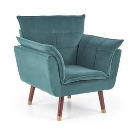 Atzveltnes krēsls Halmar Rezzo Dark Green, 73x80x84 cm