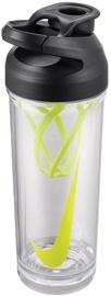 Dzeramā ūdens pudele Nike Hypercharge, caurspīdīga/melna/zaļa, 0.7 l
