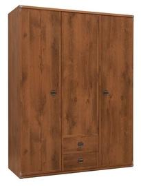 Skapis Black Red White Indiana Sutter Oak, 150x57x195.5 cm