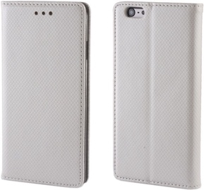 Forever Smart Magnetic Fix Book Case For Samsung Galaxy J3 J320F Silver