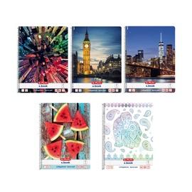 Piezīmju bloks Herlitz Spiral Pad A4 x.book Mix Assortment 11086204