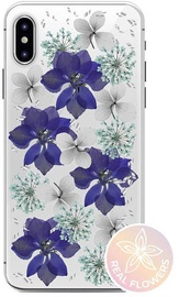 Puro Glam Hippie Chic Cover With Real Flower For Apple iPhone XR Purple