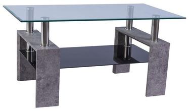 Kafijas galdiņš Signal Meble Lisa II Grey Stone, 1100x600x550 mm