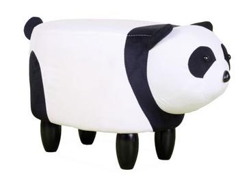 Pufs Signal Meble Panda Paulinka White/Black, 62x33x33.5 cm