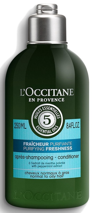 Matu kondicionieris L´Occitane Aromachologie Purifying Freshness Conditioner, 250 ml