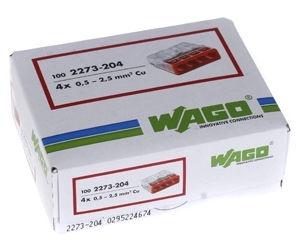 Wago 4 Wire terminal 4x0.5-2.5 100pcs