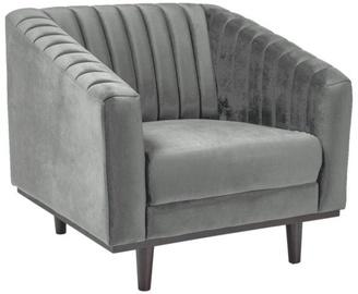 Atzveltnes krēsls Signal Meble Asprey 1 Velvet Grey/Wenge, 83x78x60 cm