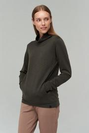 Audimas Merino Bamboo Blend Sweatshirt Black Olive L