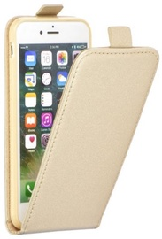 Forcell Flexi Slim Flip Vertical Case For Apple iPhone X Gold