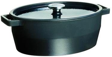 Pyrex SlowCook Oval Cast Iron Casserole 33cm Gray