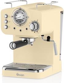 Kafijas automāts Swan Retro Pump Espresso Cream