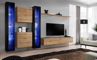 ASM Switch XVI Wall Unit Wotan Oak/Black