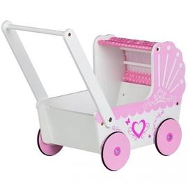 Коляска для кукол EcoToys Wooden Pink/White