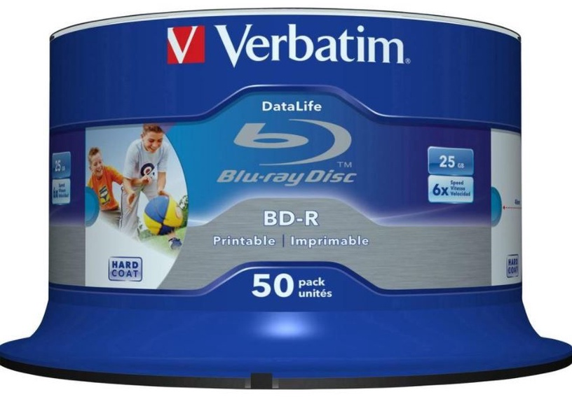 Verbatim BD-R Printable 25GB 6x 50pcs