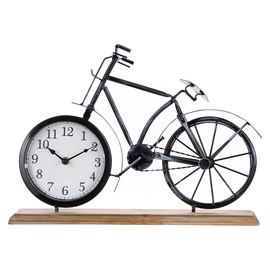 SN Table Clock Bike 42x7.5x29cm Black