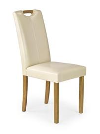 Ēdamistabas krēsls Halmar Caro Beech/Creamy, 1 gab.