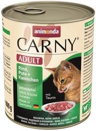 Animonda Carny Adult Beef Turkey & Rabbit 800g