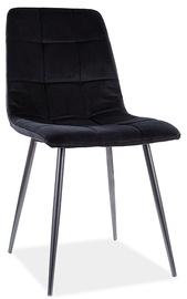 Ēdamistabas krēsls Signal Meble Mila Matt Velvet 99, melna