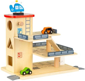 EcoToys Wooden Toy Track Parking Garage With Elevator 209511