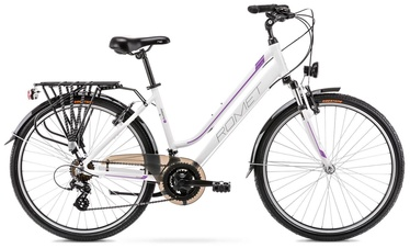 "Велосипед Romet Gazela 1 White/Purple 2021, 19"", 28″"