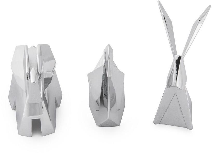 Umbra Origami Jewelry Ring Holder Chrome 3pcs