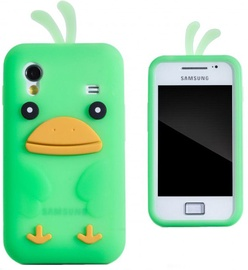 Zooky Soft 3D Cover Samsung S5830 Galaxy Ace Chicken Design Green