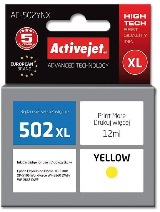 ActiveJet AE-502 replacement for Epson 502XL W14010 Yellow
