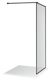 Стенка для душа Brasta Glass Ema Nero Frame, 900 мм x 2000 мм