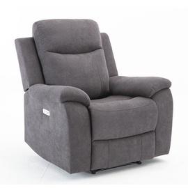 Atzveltnes krēsls Home4you Milo Grey, 97x69x103 cm