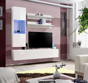 Dzīvojamās istabas mēbeļu komplekts ASM Fly H Horizontal Glass White/White Gloss