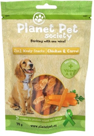 Planet Pet Society Meaty Snacks Chicken & Carrots 70g