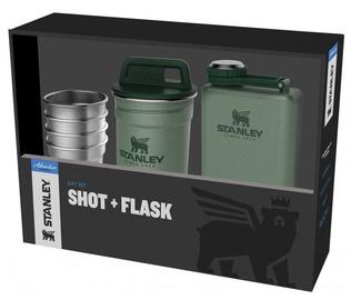 Stanley Adventure Gift Set 4pcs Shot 50ml + Flask 0.23l Green