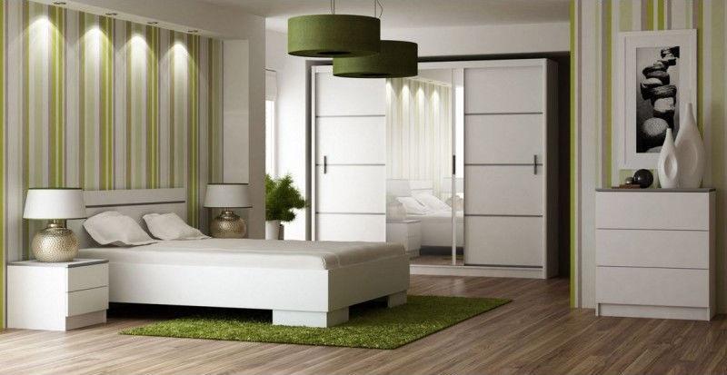 Guļamistabas mēbeļu komplekts Stolar Vista White