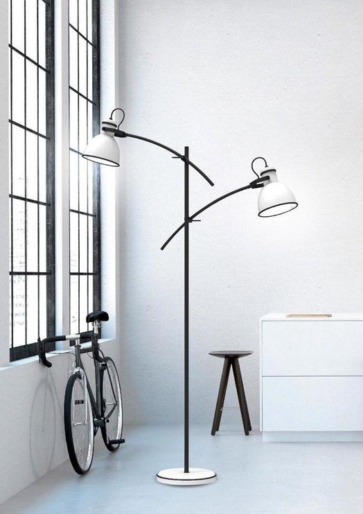 Candellux Zumba Floor Lamp 2X40W E27 White /Black